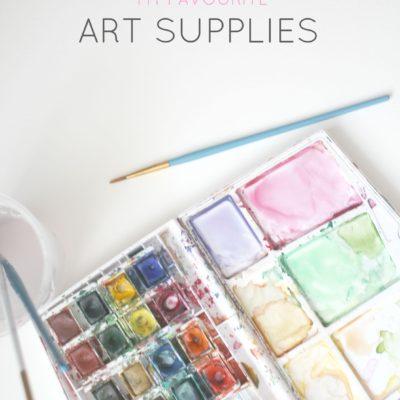 Favourite art supplies