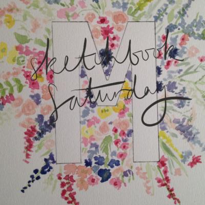 Sketchbook Saturday | Floral Alphabet
