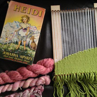 Weaving Heidi   Making a literary wall hanging