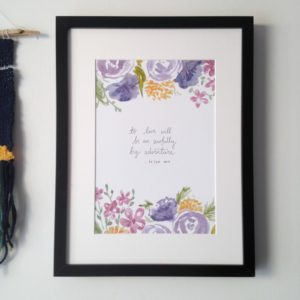 Peter Pan Adventure Quote- remember this classic tale but also inspire love of your own life with this beautiful literary quote, perfect for your bookish nook or for a little one's nursery.