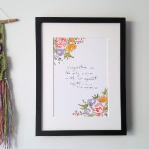 Alice in wonderland quote | Zoeprose literary nursery decor and bookish gifts.