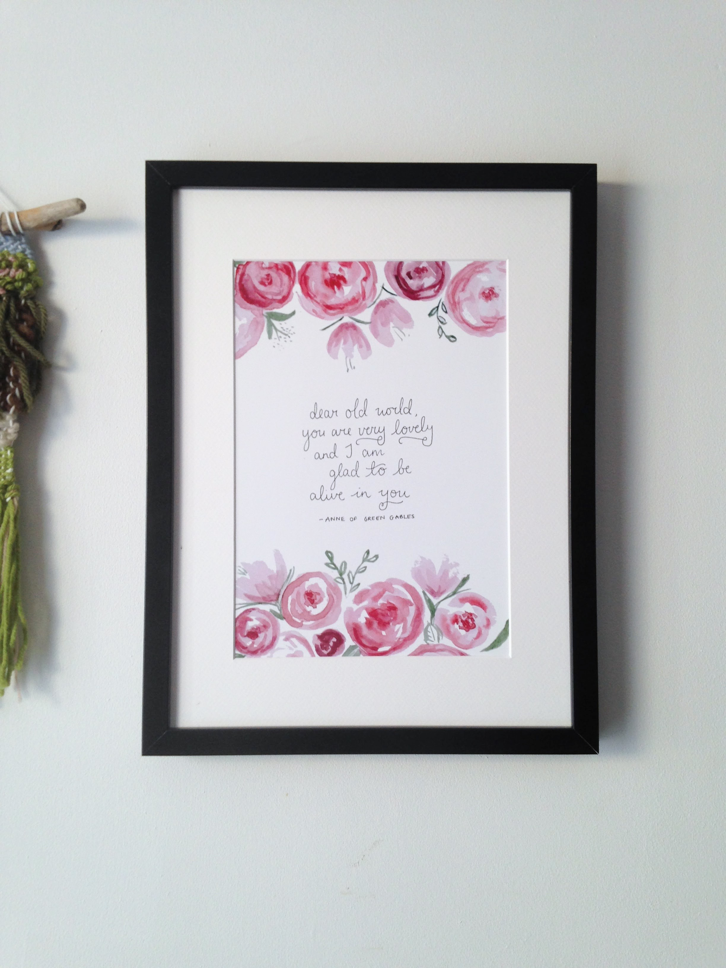 Anne of Green Gables world quote | Remember the beauty of the world through Anne's optimistic eyes with a lovely handlettered print