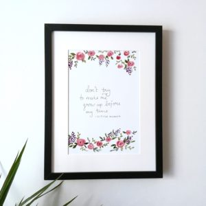 Little Women quote print | Zoeprose watercolour print
