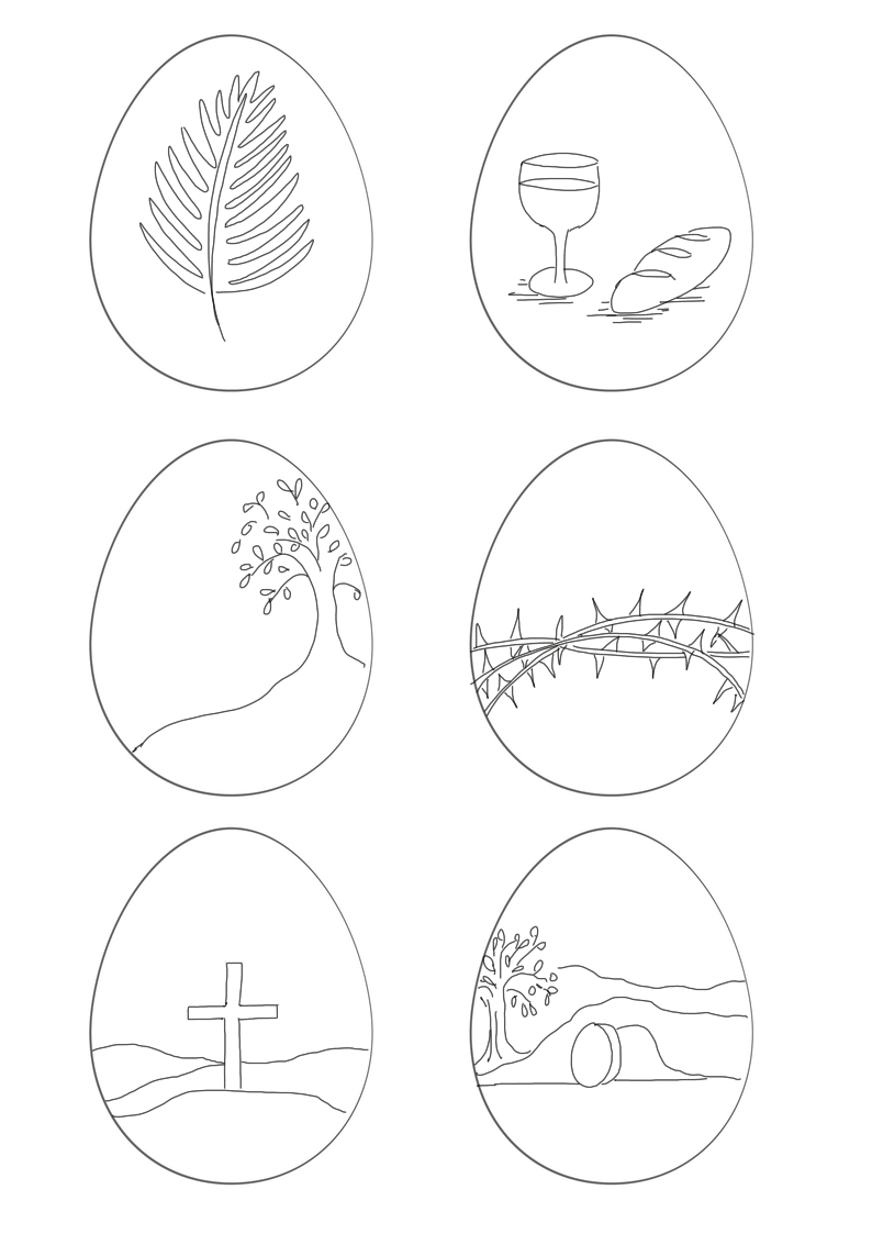 Free Easter colouring printables