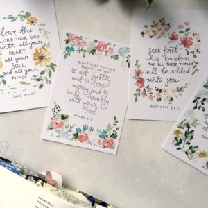 Bible verse scripture cards seek first