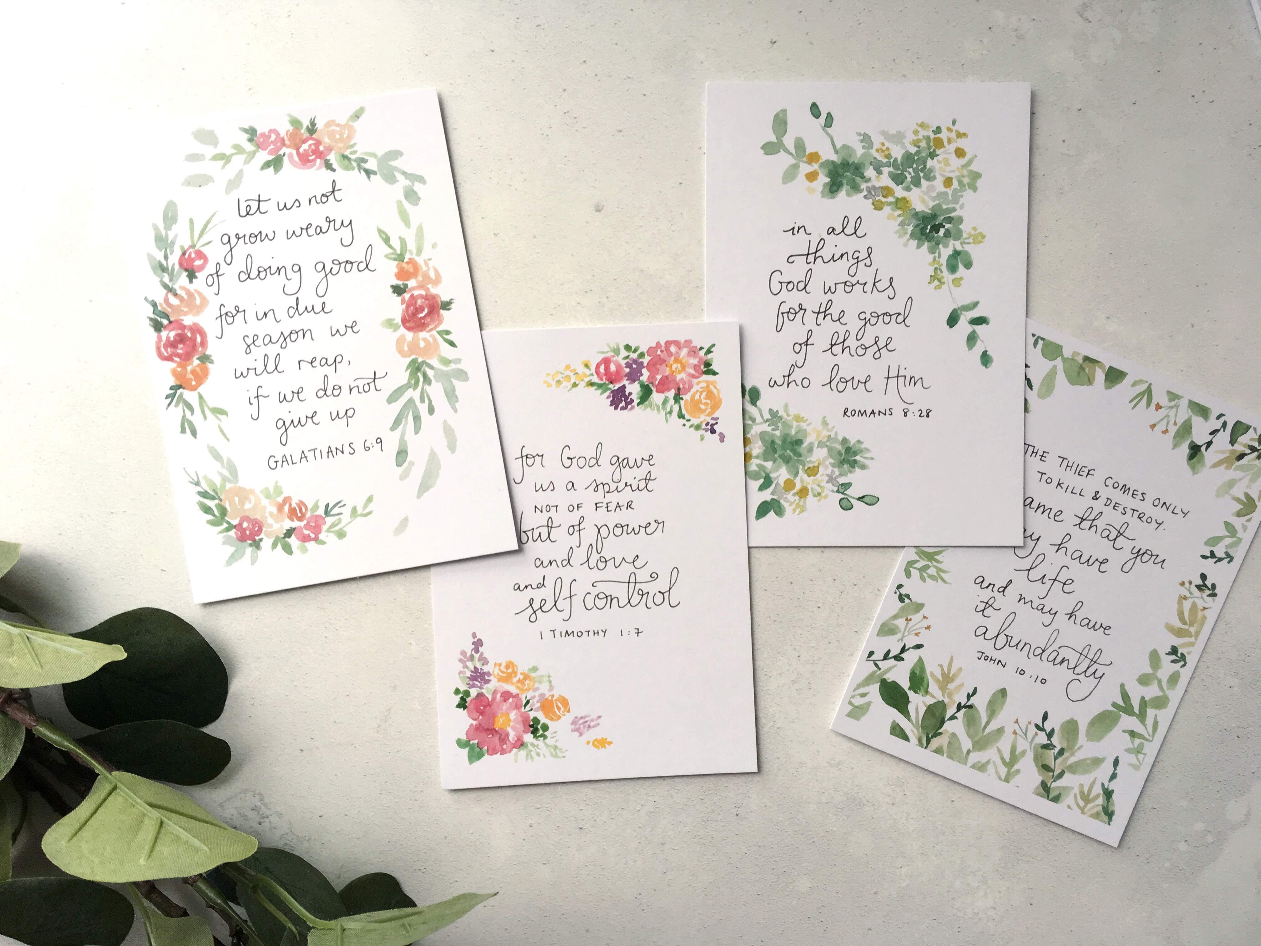 Bible verse memory cards- Abundance set- Bibleverse scripture cards