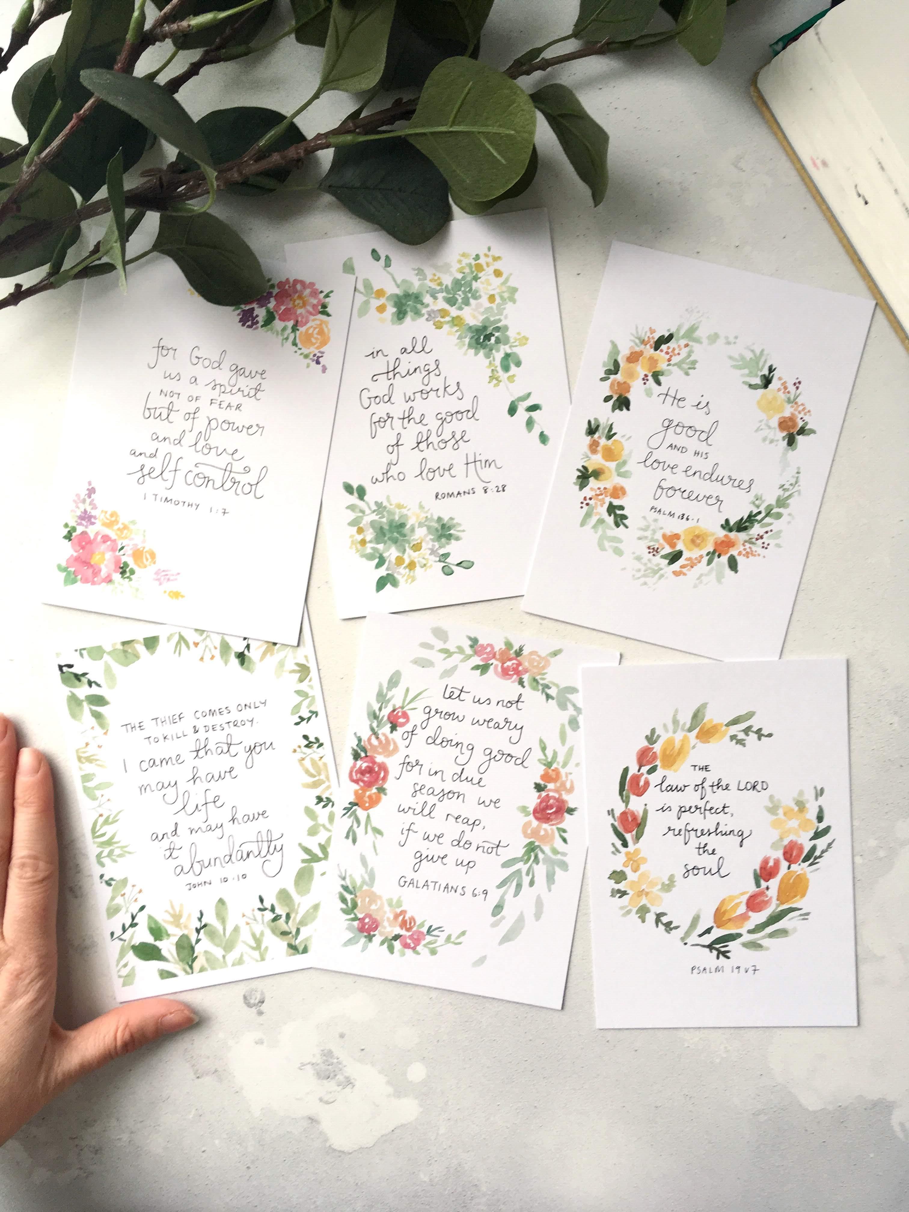 Abundance set- Bibleverse scripture cards