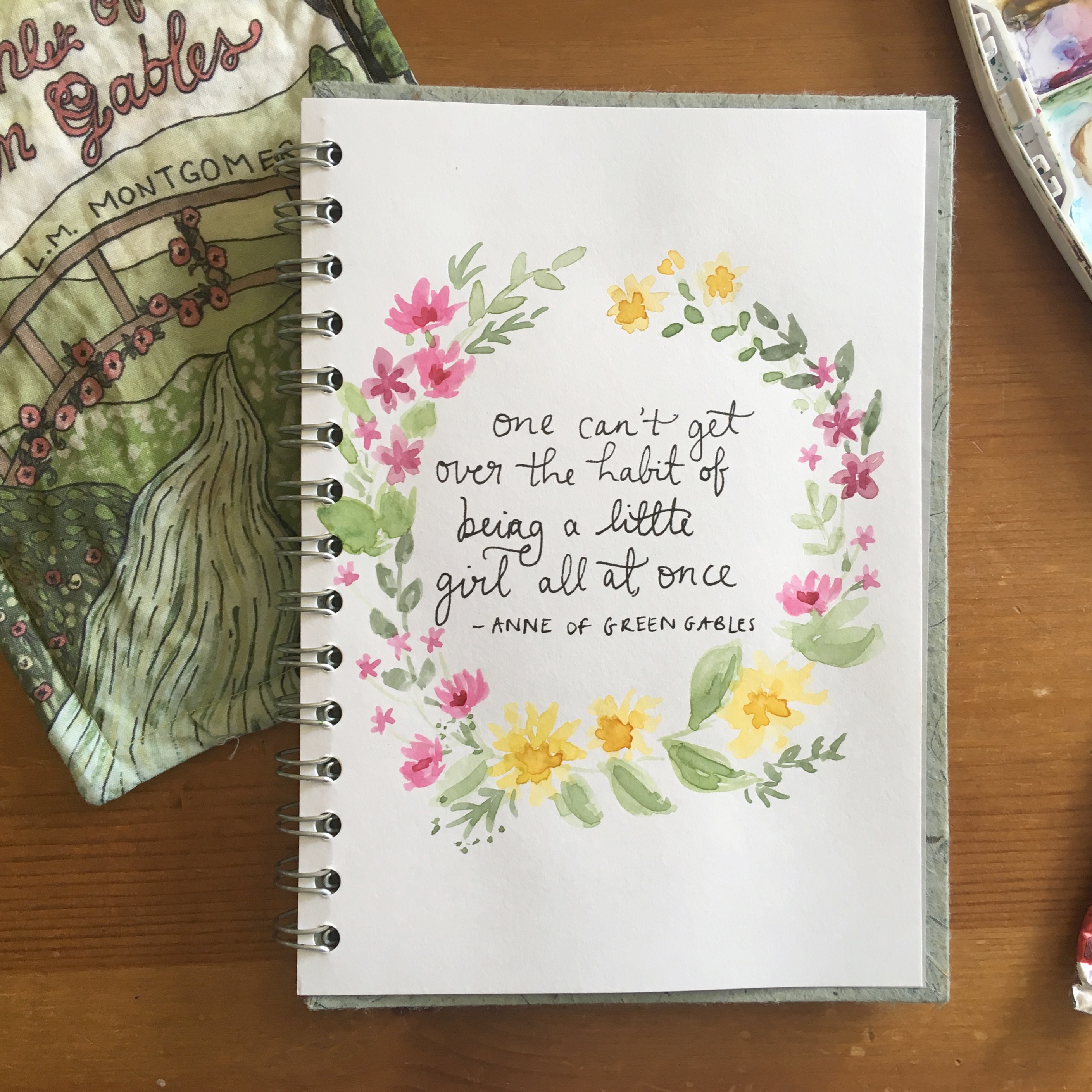 100 days of flowers and prose | Anne of green gables quotes
