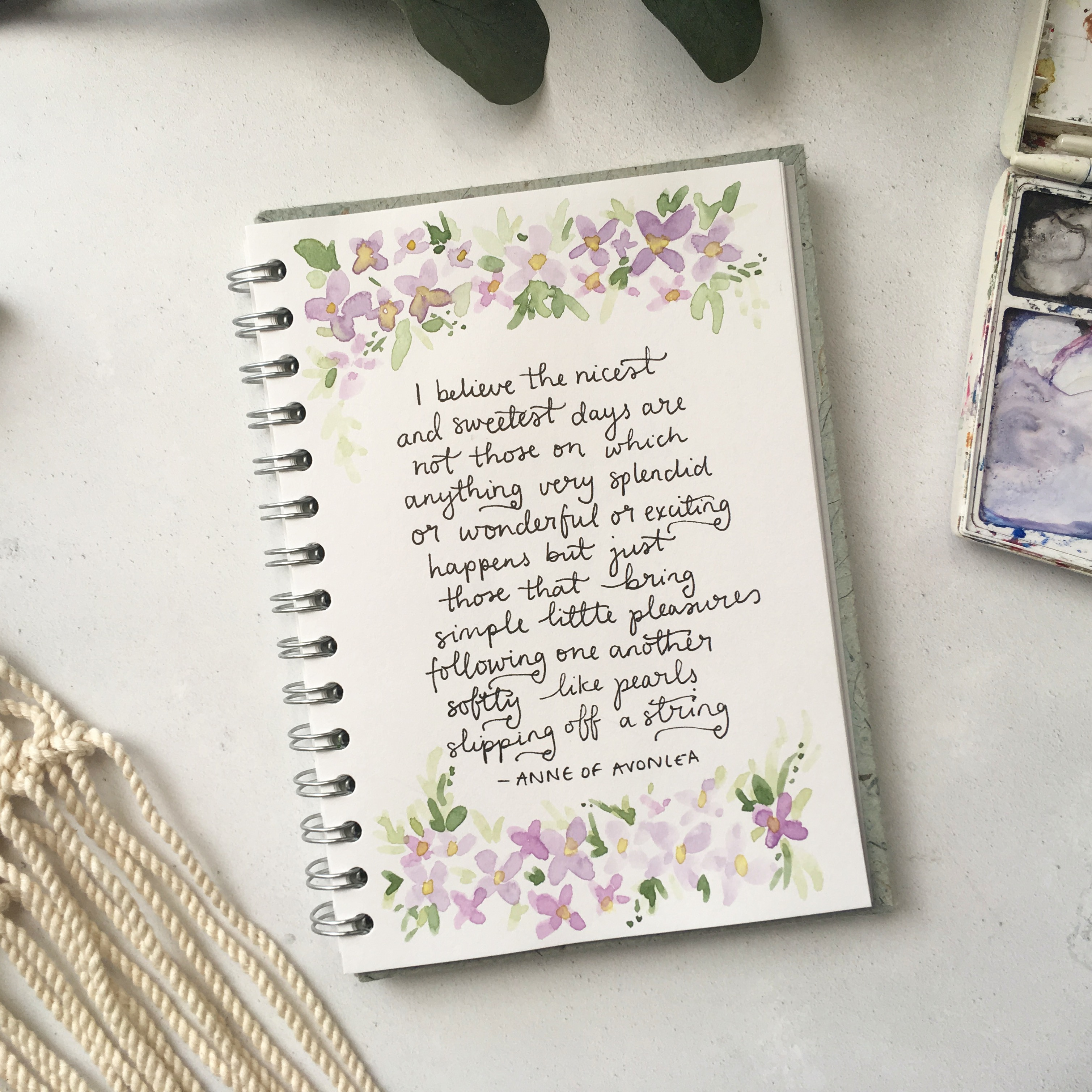 Sketchbook Saturday- Anne of Green Gables quotes