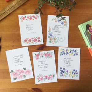 Good strong words postcard set
