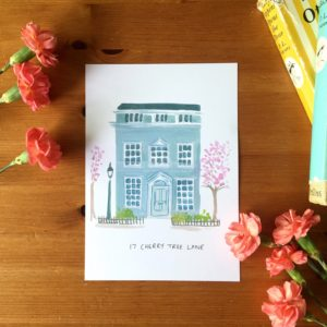 Cherry Tree Lane Mary Poppins House Print