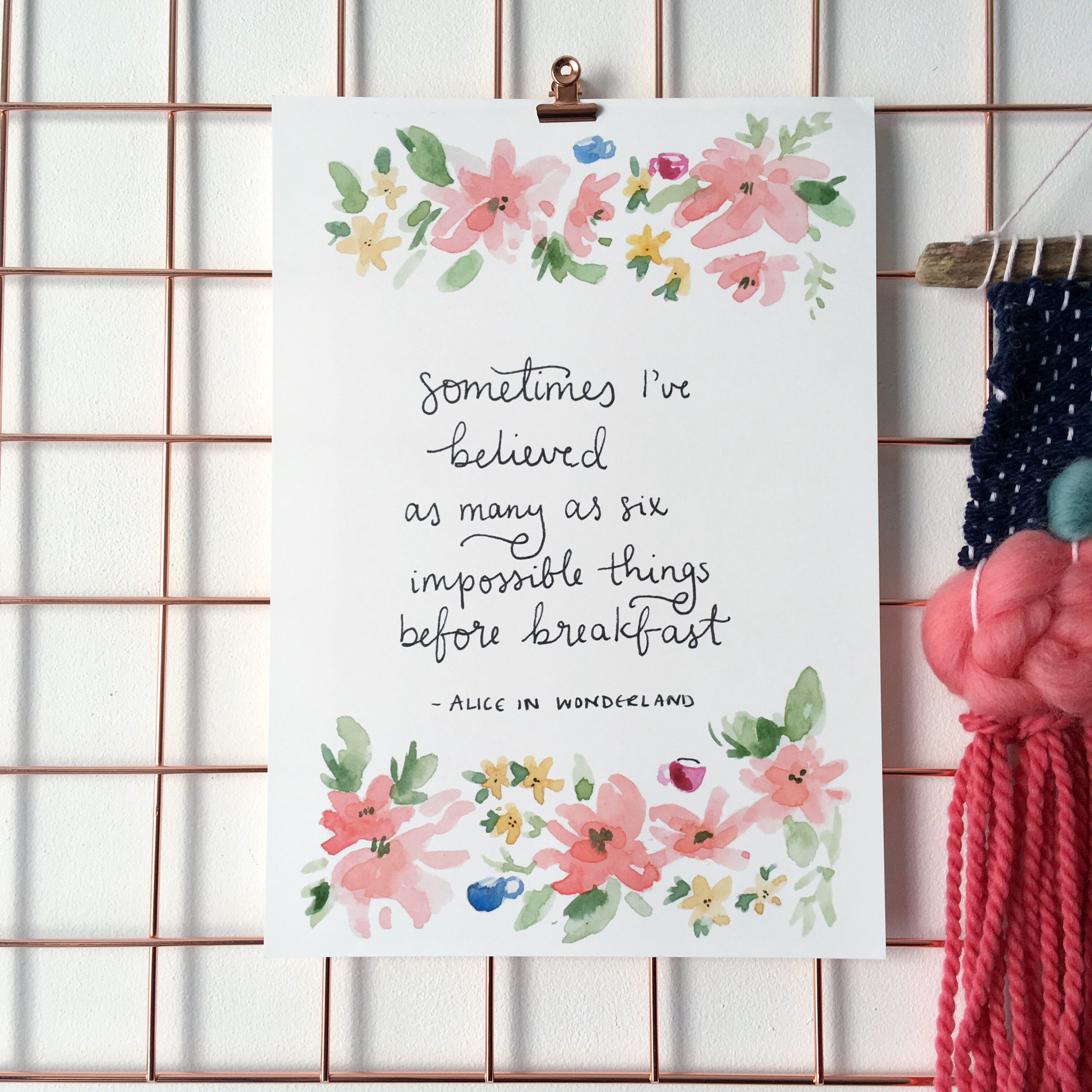 Before Breakfast Alice in Wonderland Quote Print