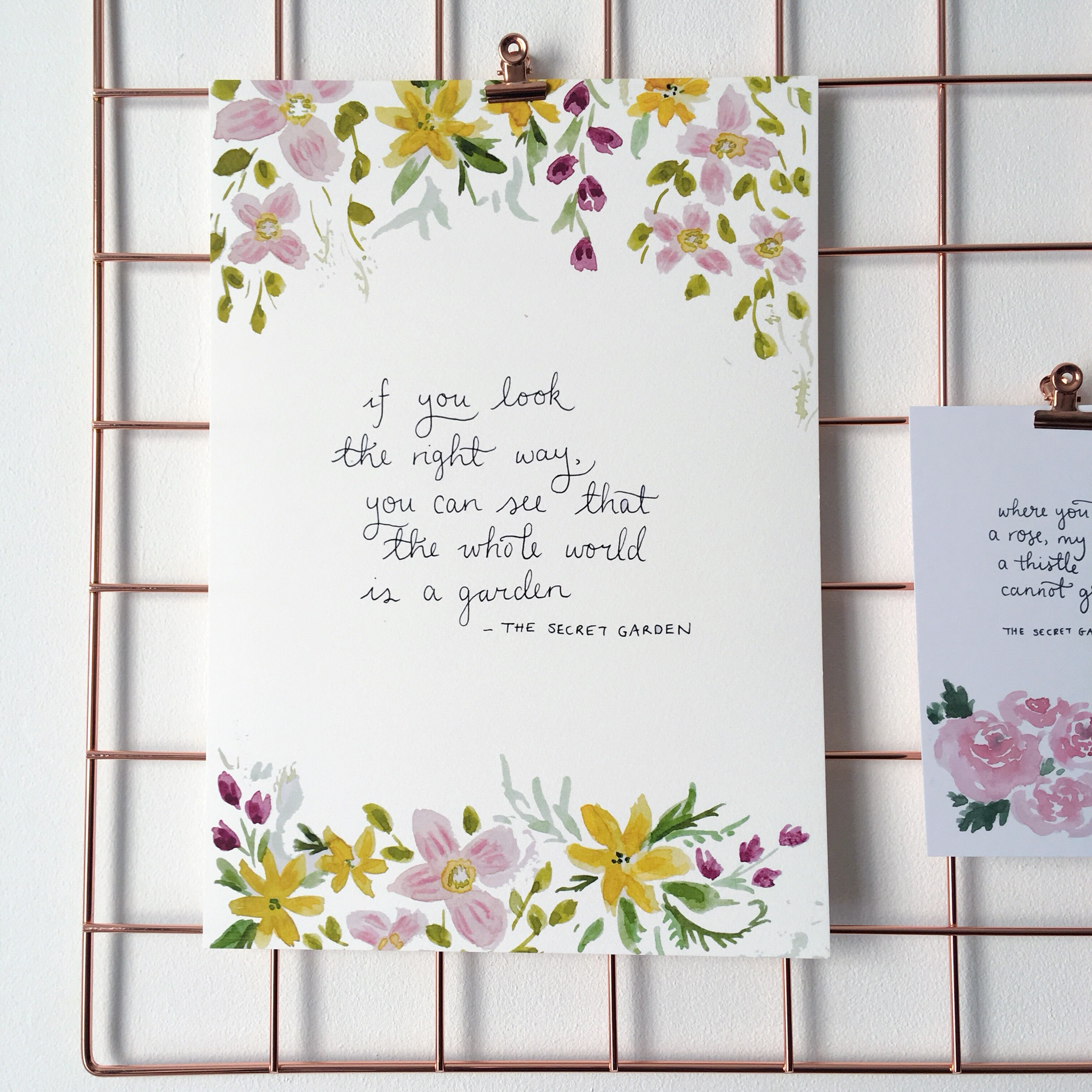 Secret Garden World Quote Print