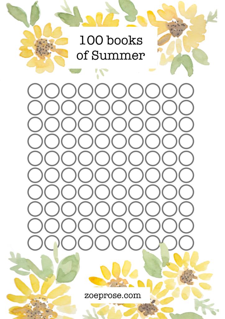 100 books of summer | Zoeprose summer reading challenge Printable