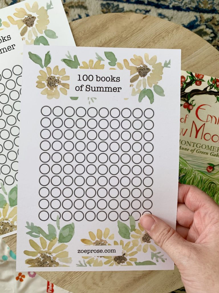 100 books of summer | Zoeprose summer reading challenge