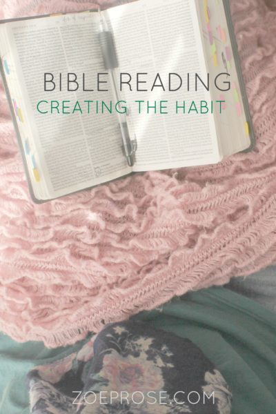 Do you wish you had more motivation to read your Bible? Do you want to start but keep forgetting to pick it up? Read 5 simple tips from someone who has been there and done that so many times, and ways that she created a better habit to spend time in the Word. Click over to the Zoeprose blog to read the tips now!