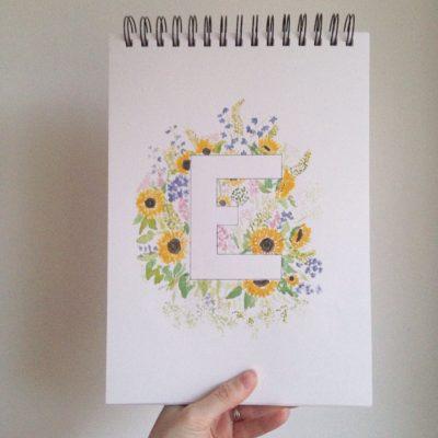Sketchbook Saturday – Floral Alphabet