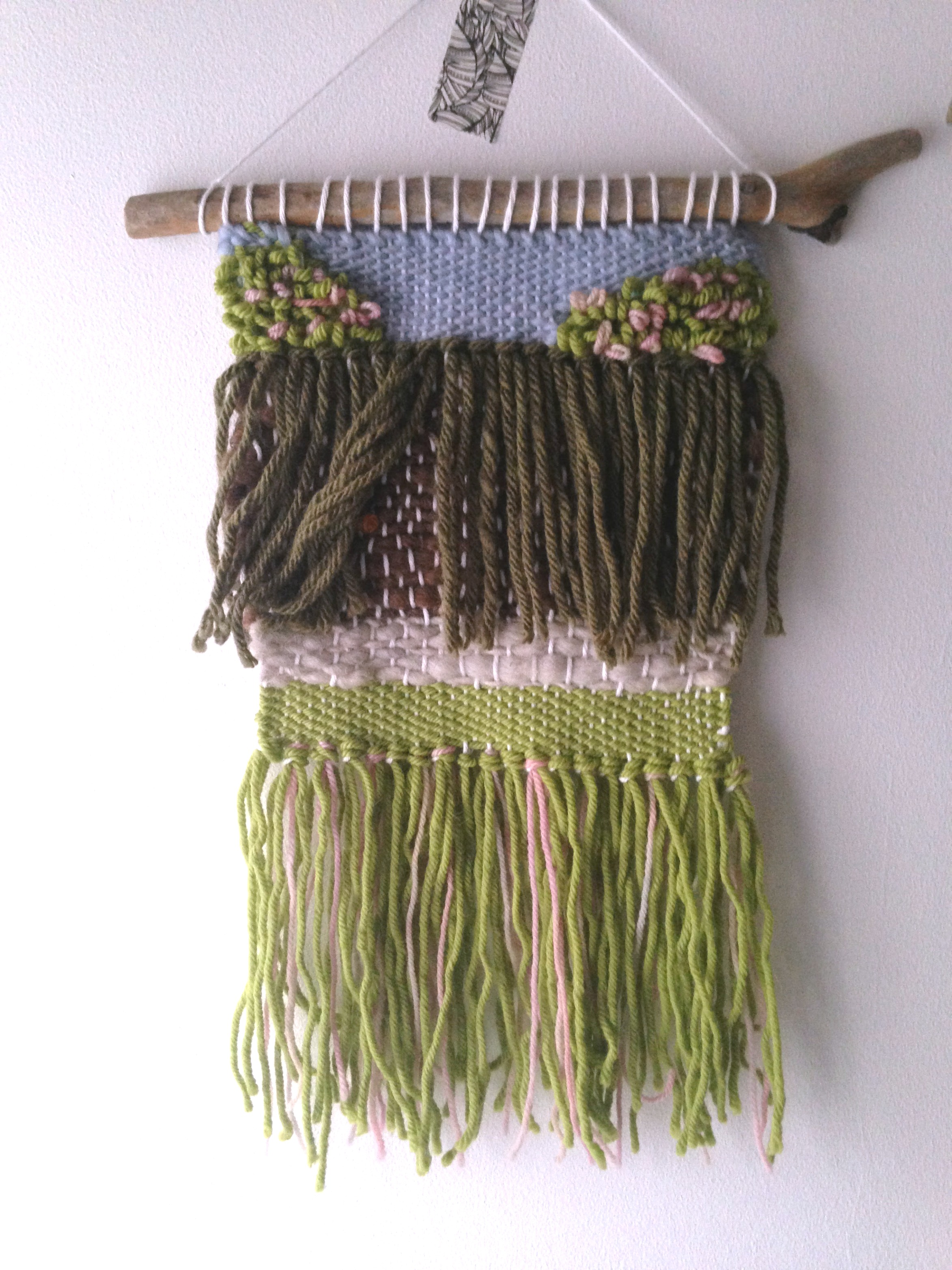 The Secret Garden weaving | Book inspired wall hanging, perfect for a literary themed room or nursery.