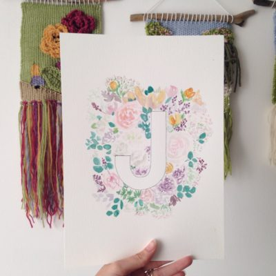 Sketchbook Saturday – Floral Alphabet part 3