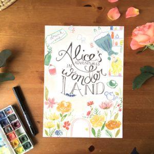 alice in wonderland bookcover print || Zoeprose