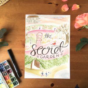 The Secret Garden bookcover print | Zoeprose