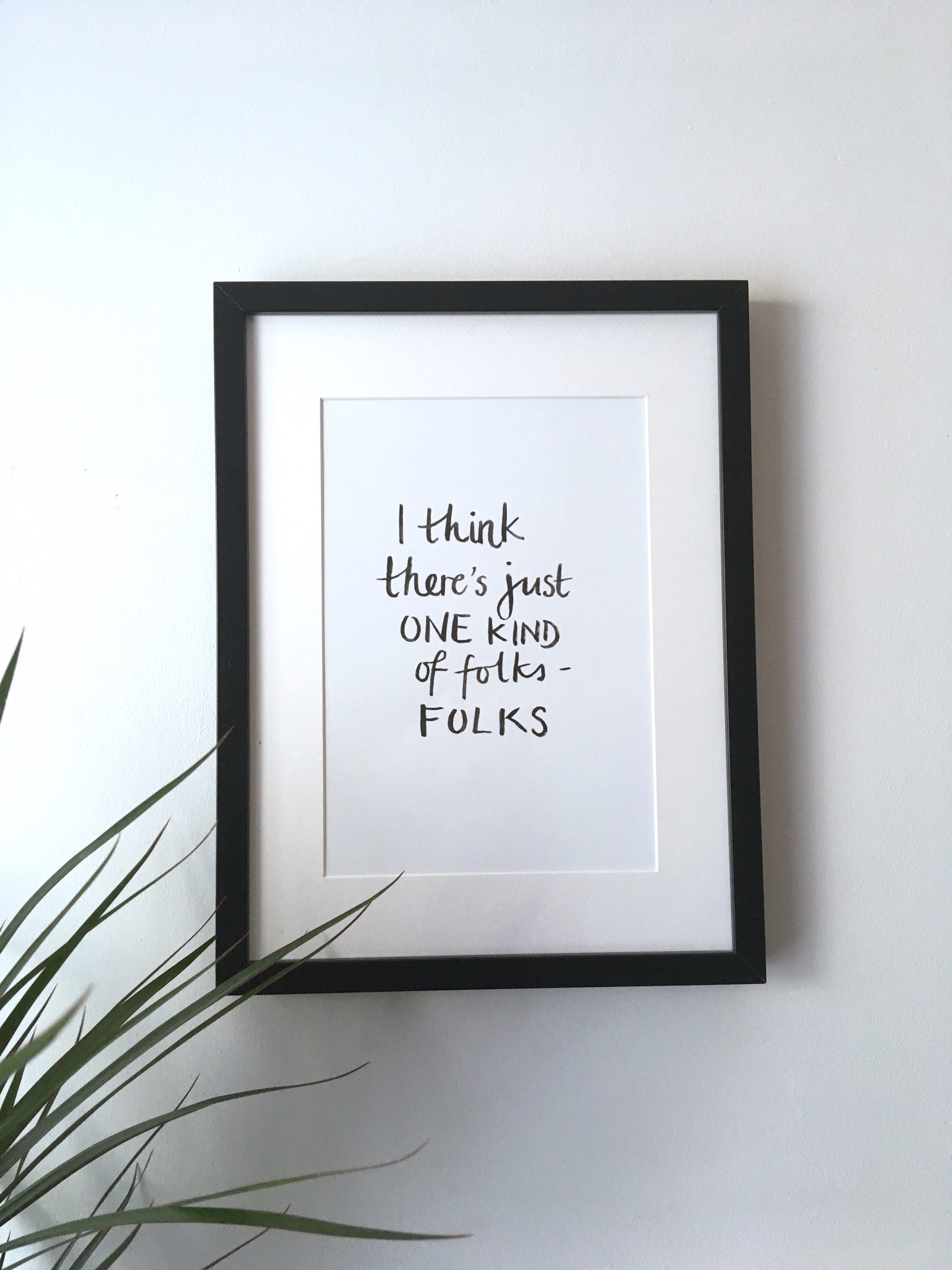 To Kill a Mockingbird folks quote print | Zoeprose brushlettered print