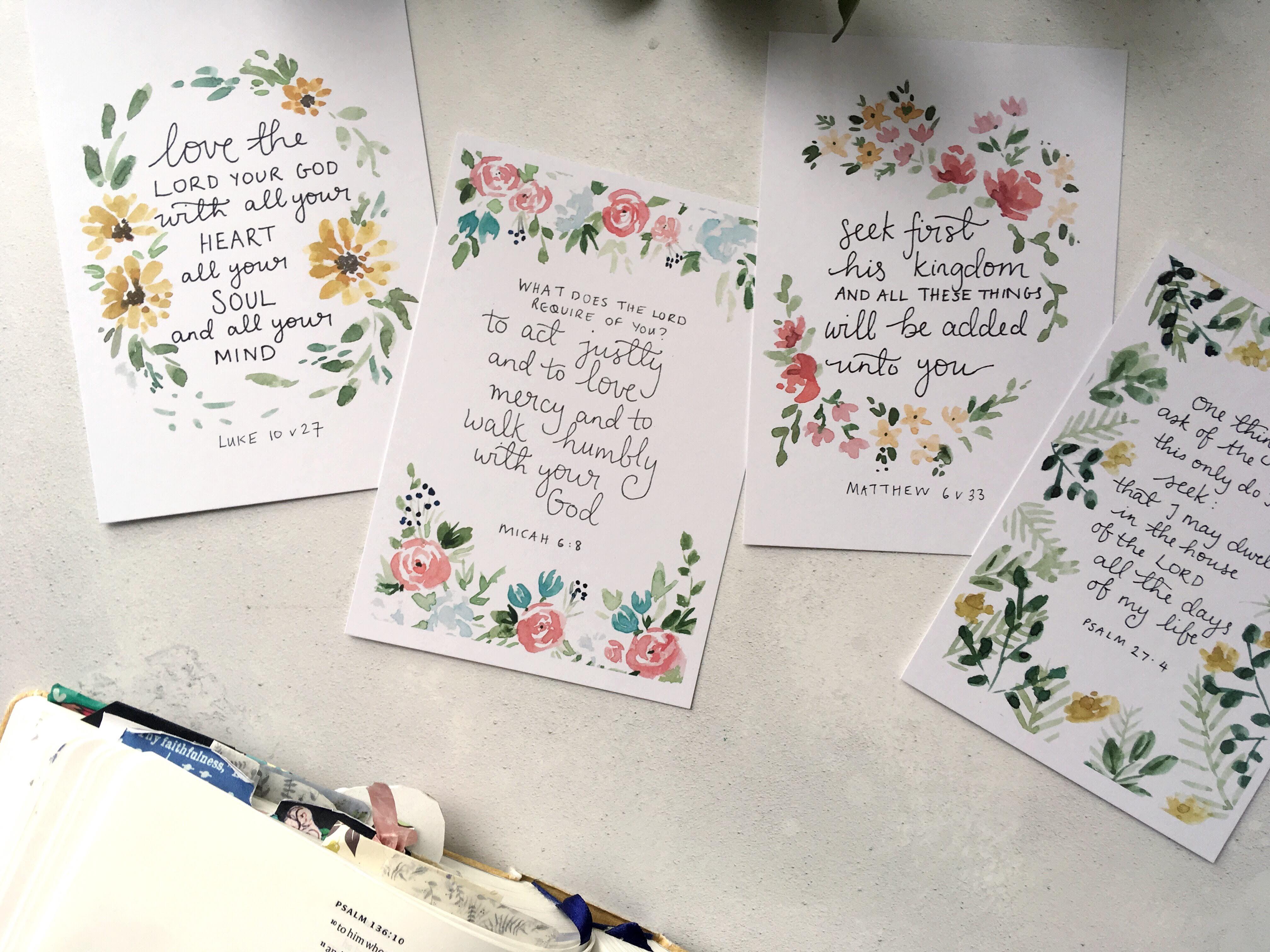 Bible verse scripture cards seek first