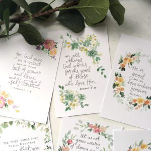 Bible verse memory cards- Abundance set- Bibleverse scripture cards