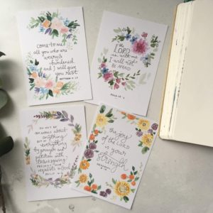 Bible verse scripture cards - Bible verses about hard times