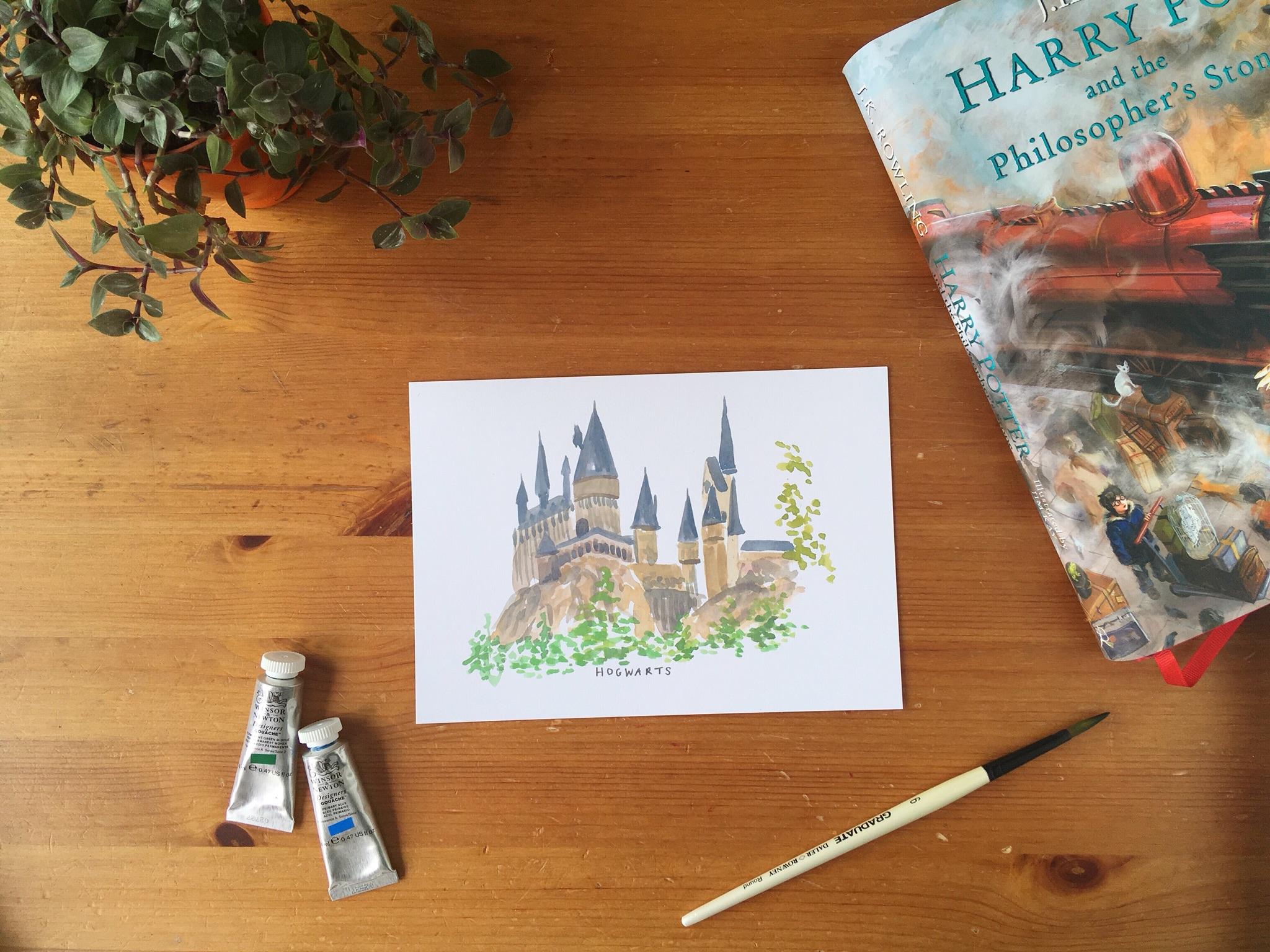 hogwarts print