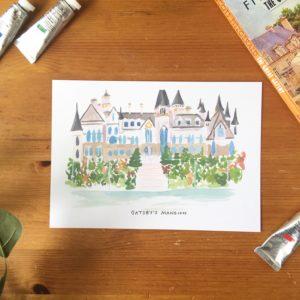 gatsbys mansion print
