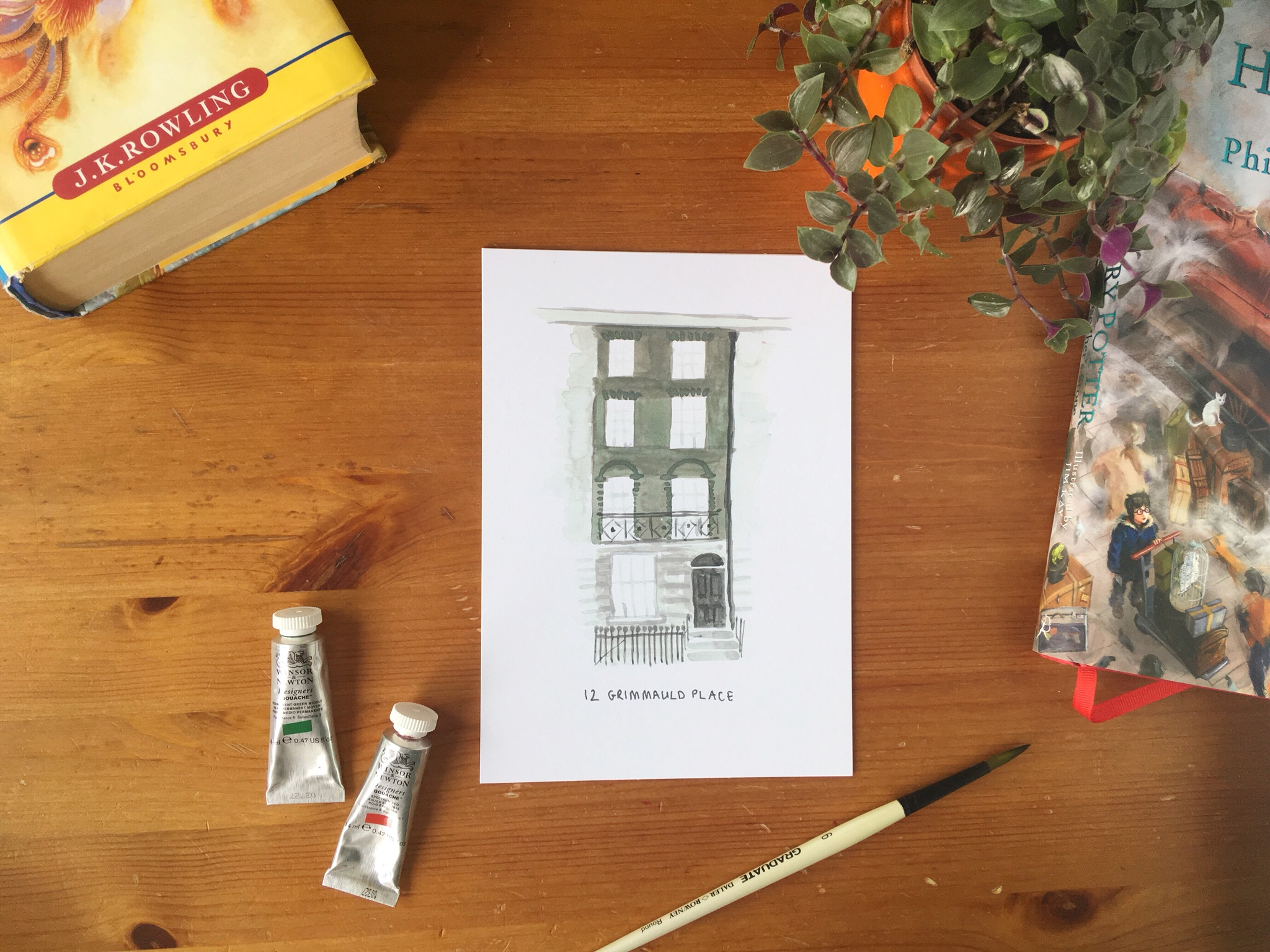 grimmauld place print, Harry Potter wall art