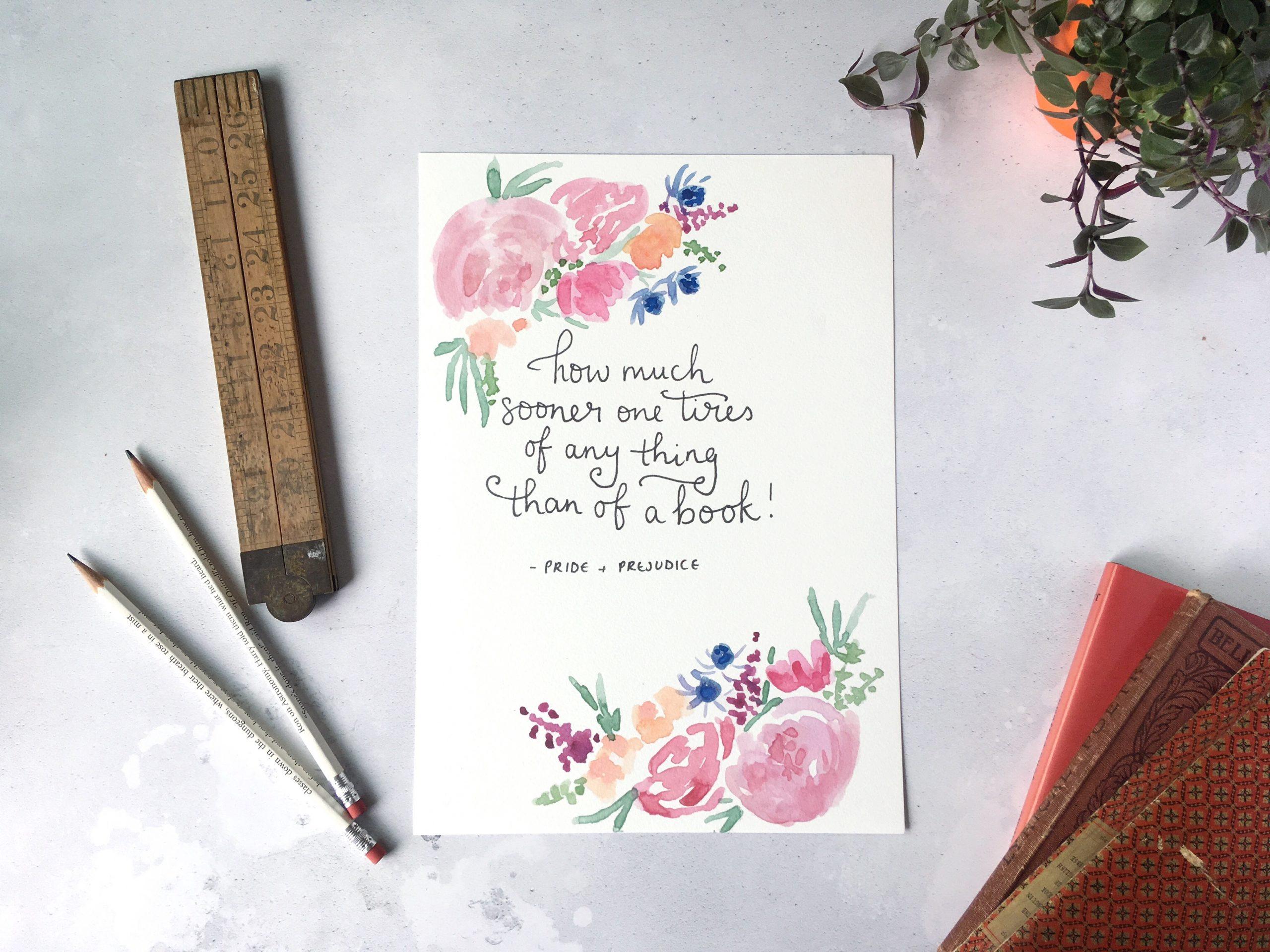 Jane Austen reading quote print