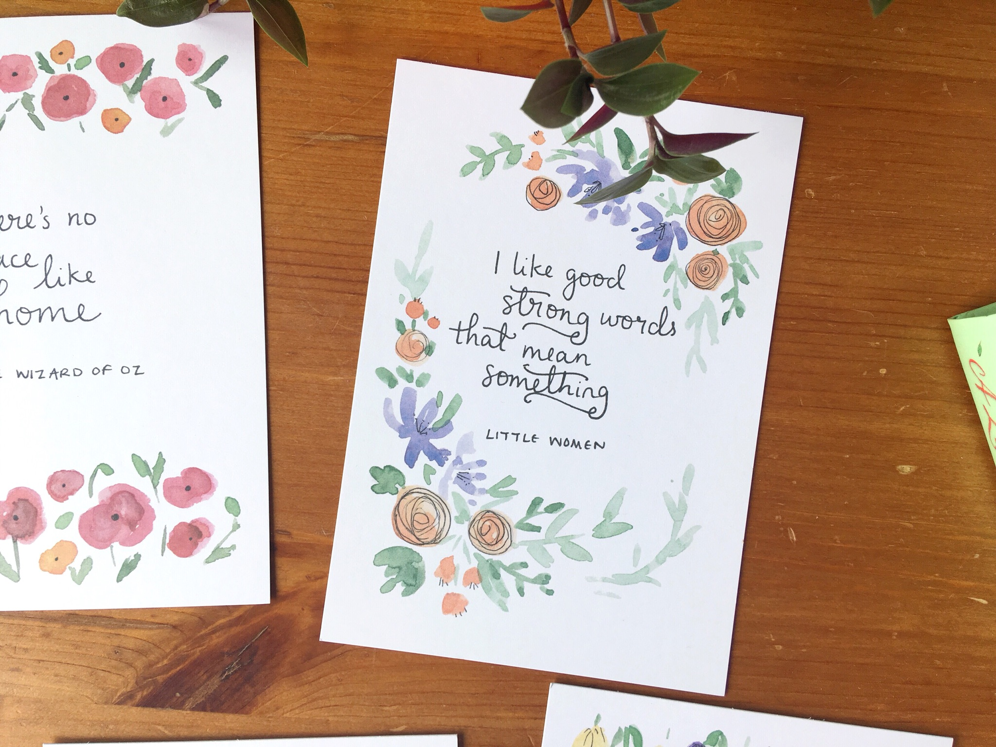 literary quote cards