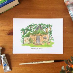 Hagrid's hut print