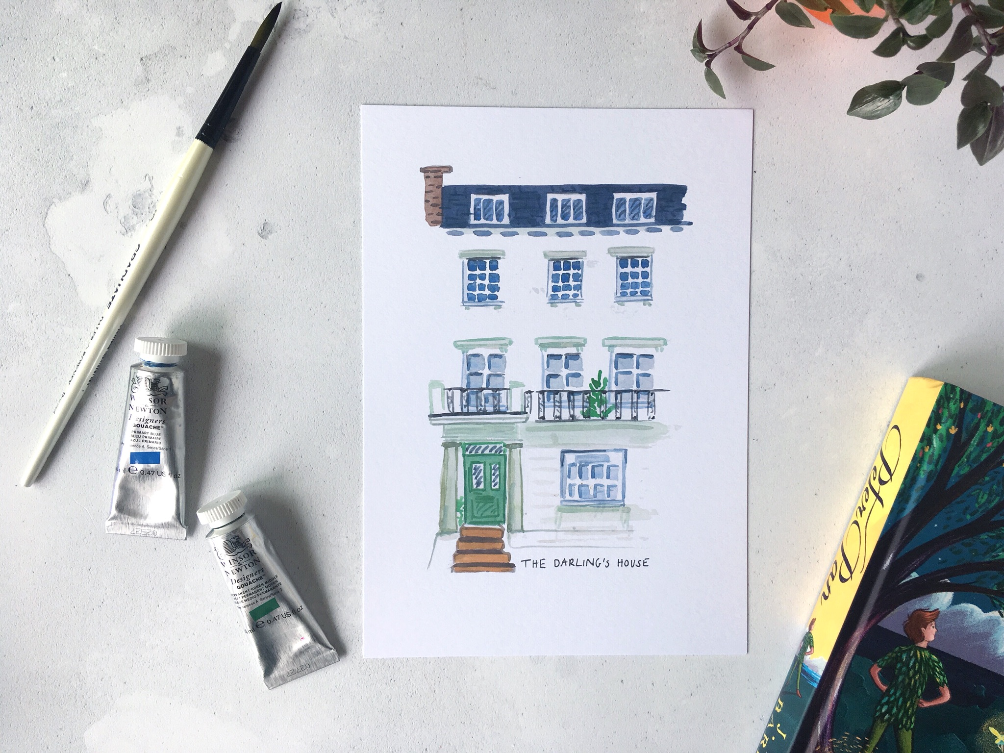 Darling House Peter Pan Print