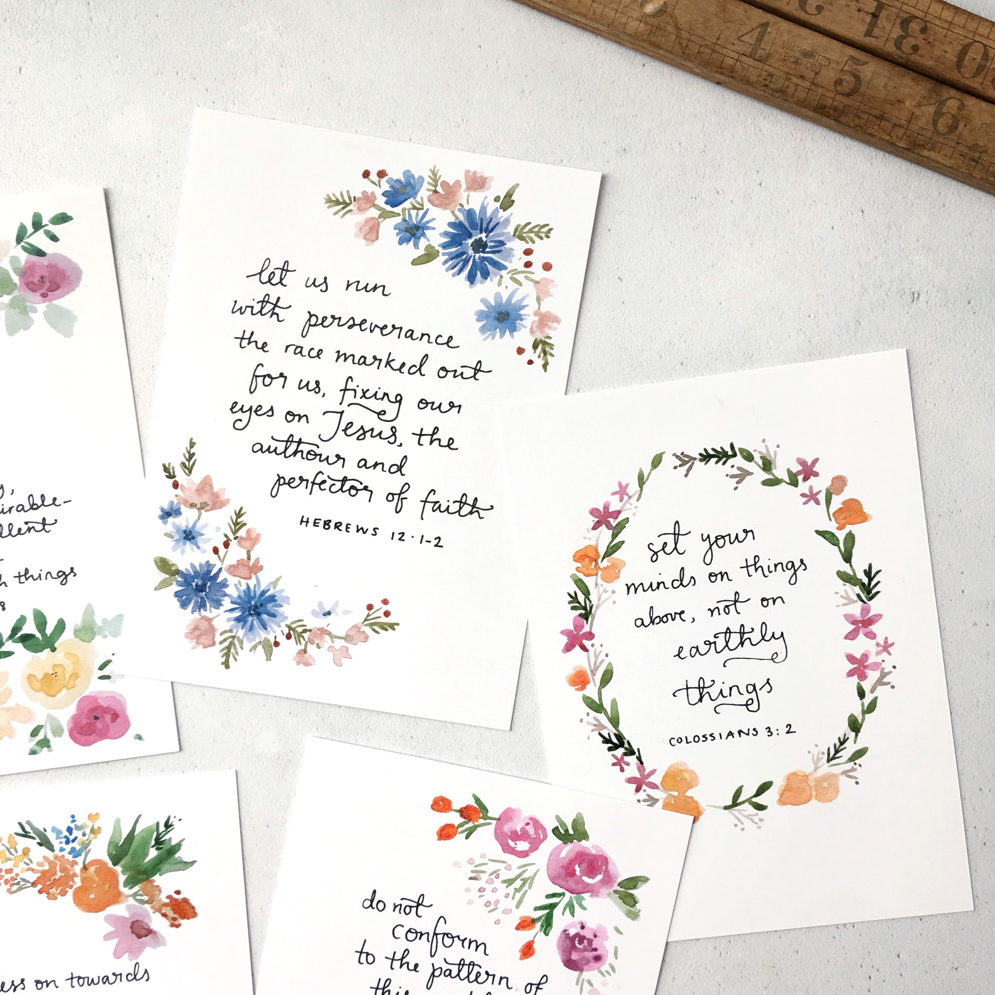 bible verse scripture card set