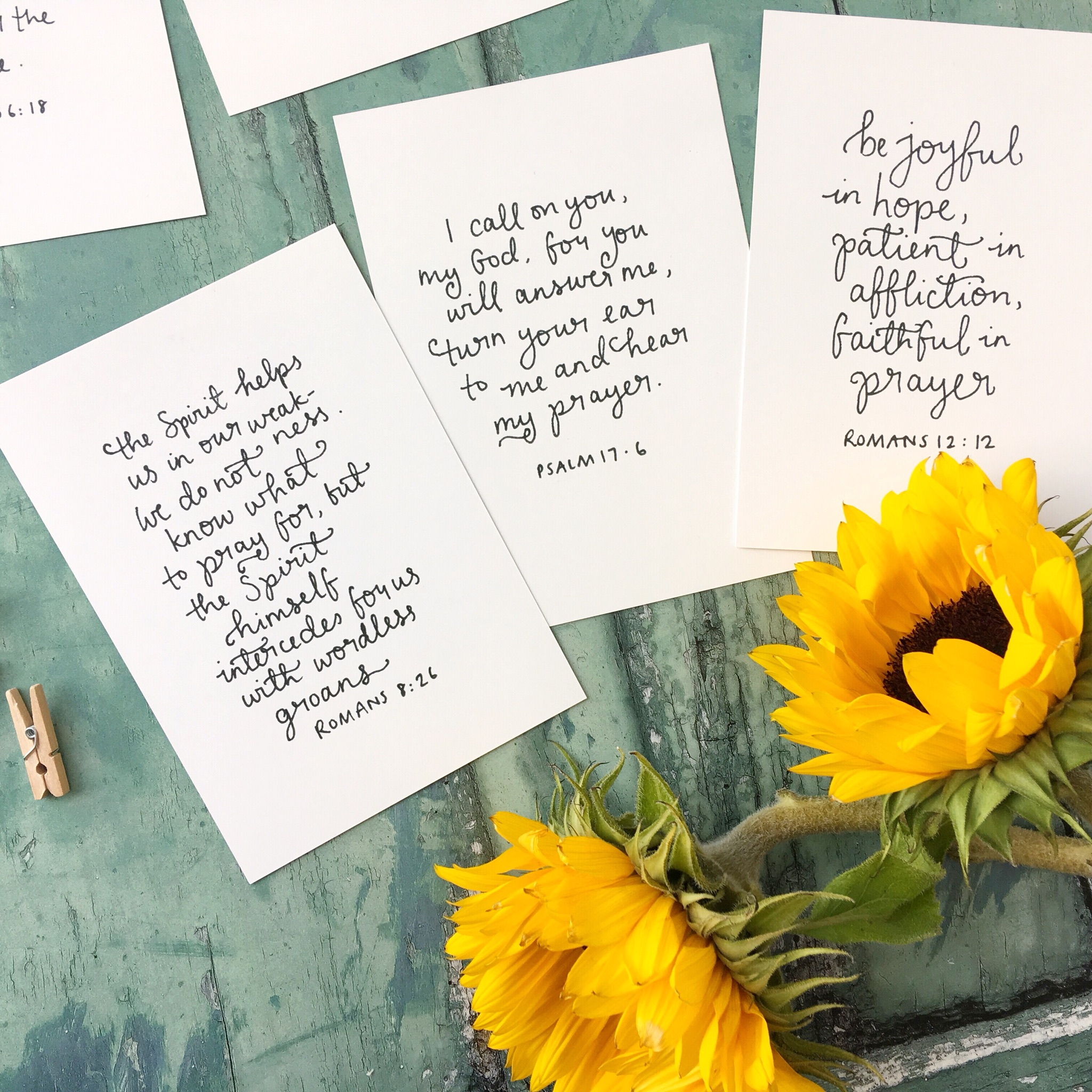 prayer set | bible verse scripture cards