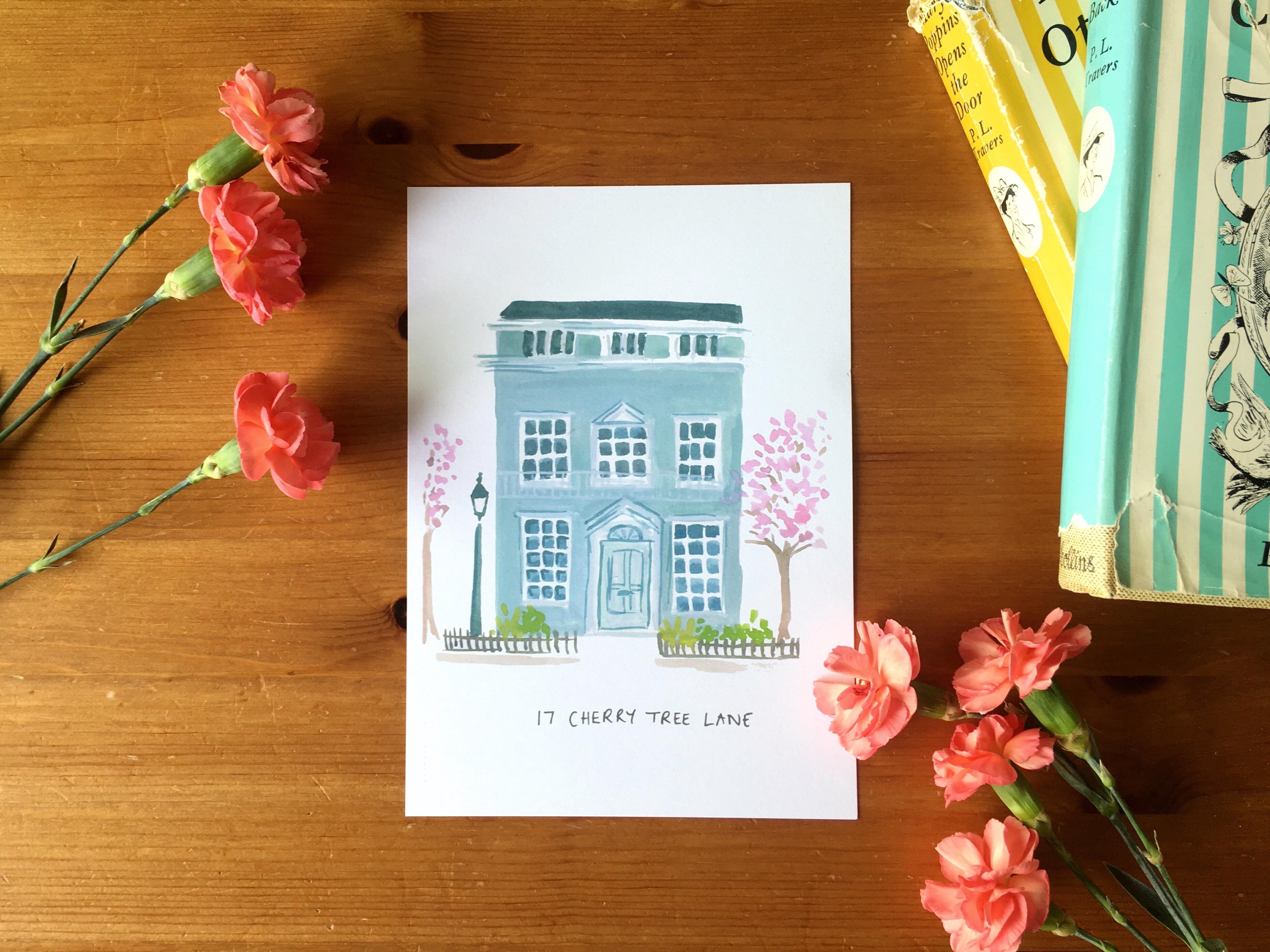 Cherry Tree Lane Mary Poppins House Print