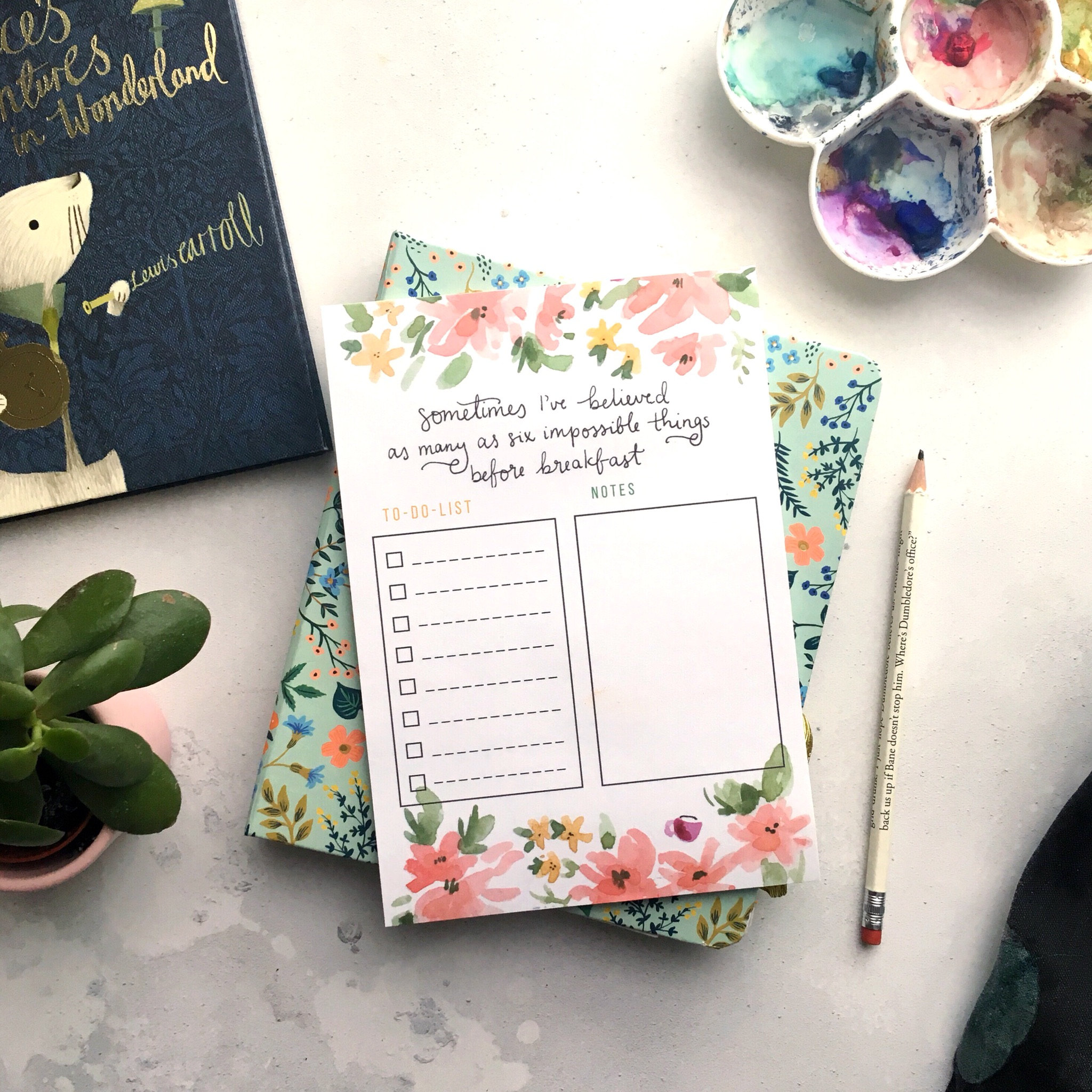 Alice in Wonderland Task Notepad