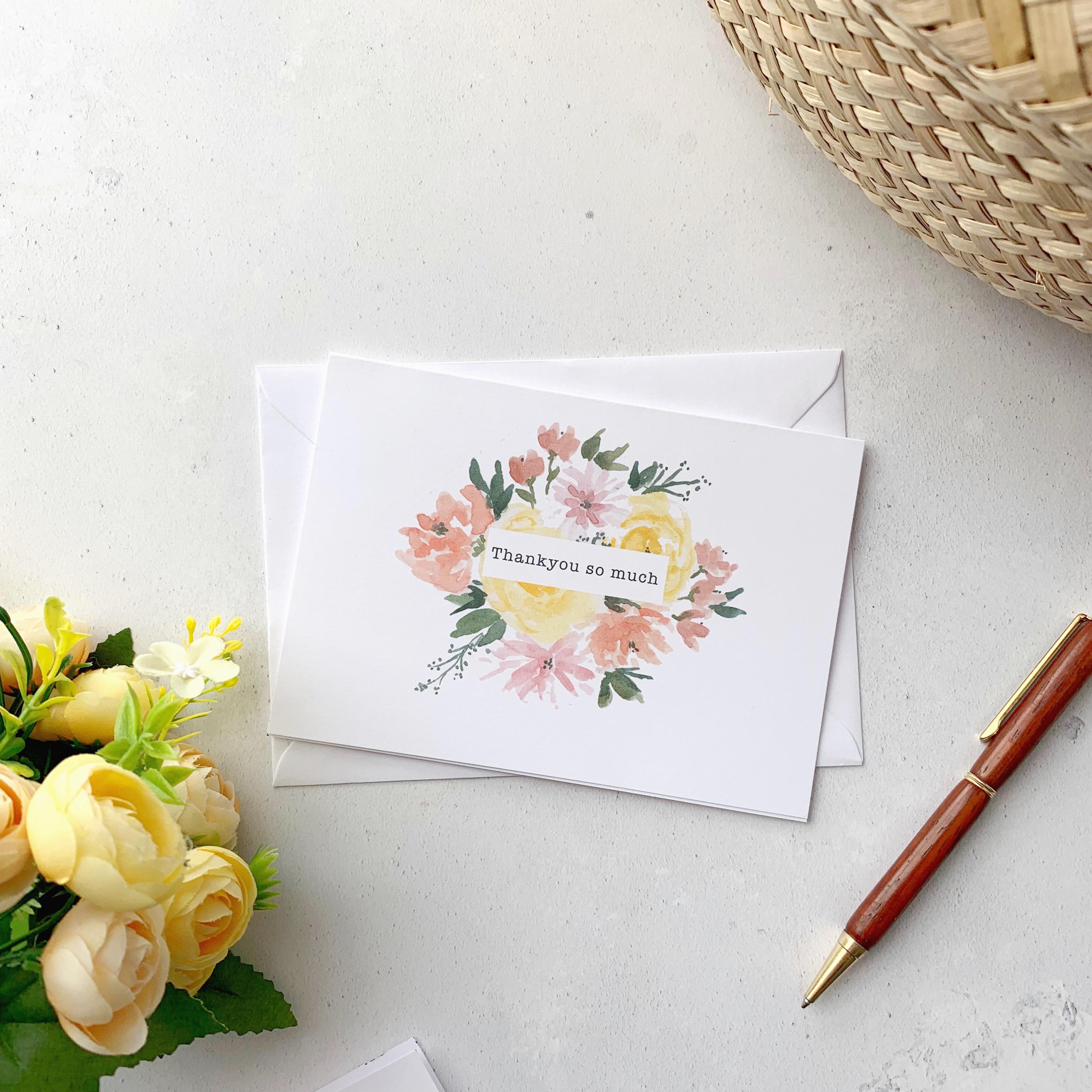 Thankyou florals card