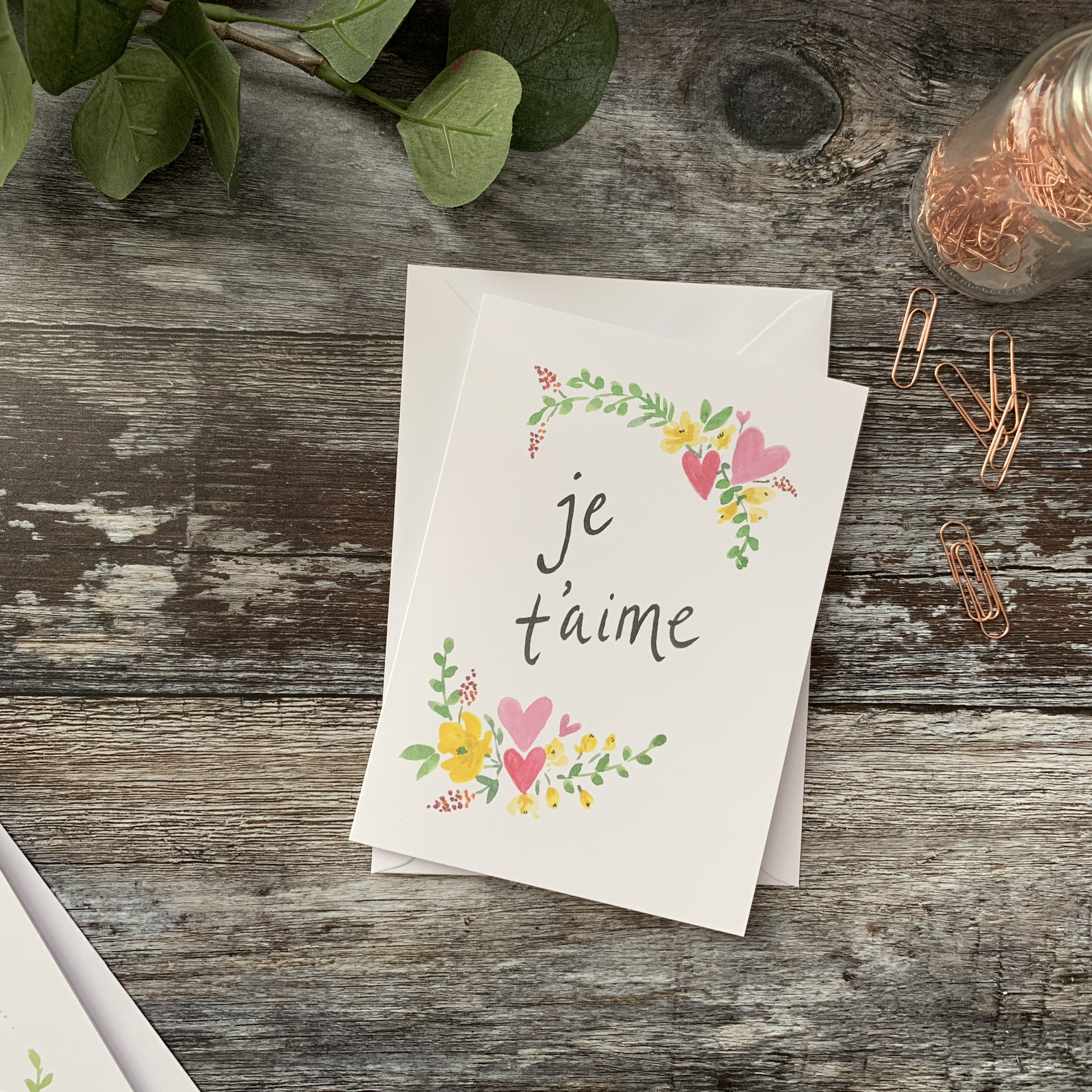 je t'aims card